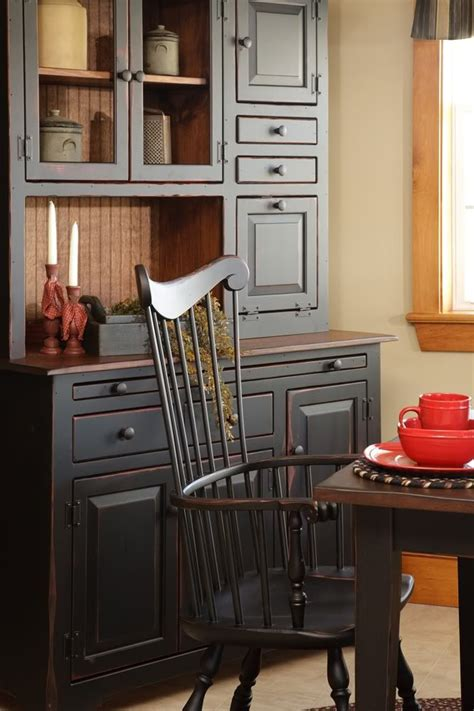 primitive kitchen furniture 25 best ideas about black hutch on pinterest antique