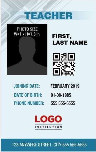 contractor id card template photo id badge templates for ms word word