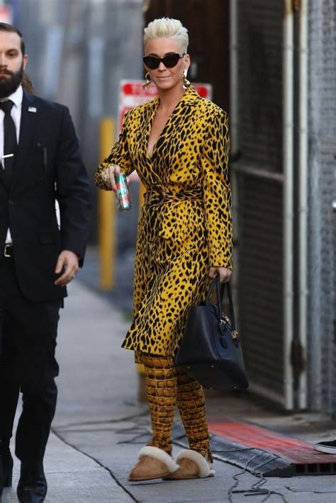 Donatella Versace On Jimmy Kimmel by Katy Perry In Versace Jimmy Kimmel Live Fashionsizzle