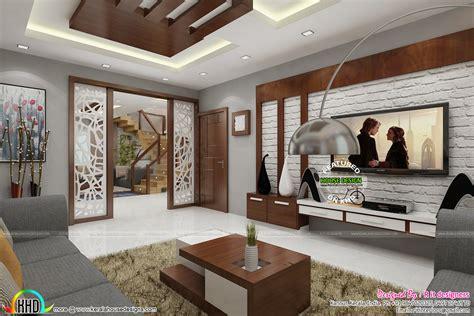posh living room interior kerala home design  floor plans