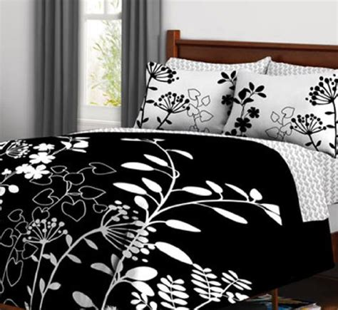 black comforter with white flowers kids bedding black white flowers girls queen comforter