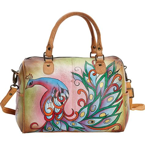 painted leather handbags by anuschka