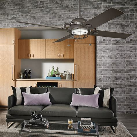 living room ceiling fans with lights kichler maor patio ceiling fan 310136oz living room sq