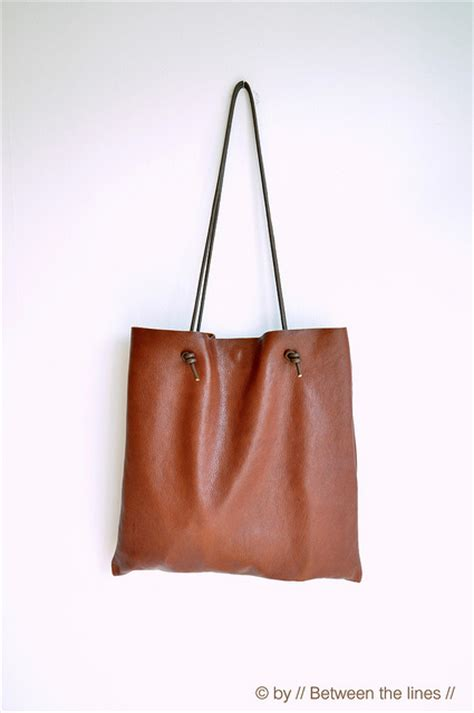 Simply Bag how to make a simple leather bag shelterness