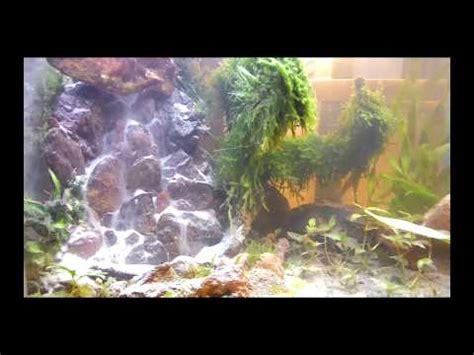 aquascape diy my diy aquascape under water waterfall youtube