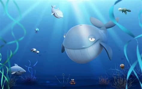 wallpaper cartoon wale smiling cartoon whale wallpaper background 2664