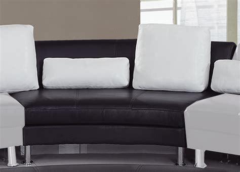 Global Furniture Usa 919 Sectional Set A Black White Gf