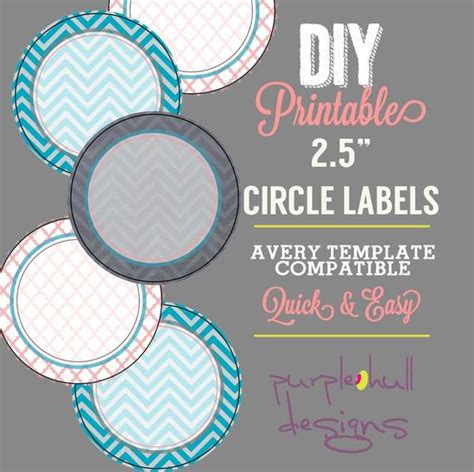 Circle Label Sticker Avery Template 2 5 Inch Round Chevron Avery Circle Labels 2 Inch Template
