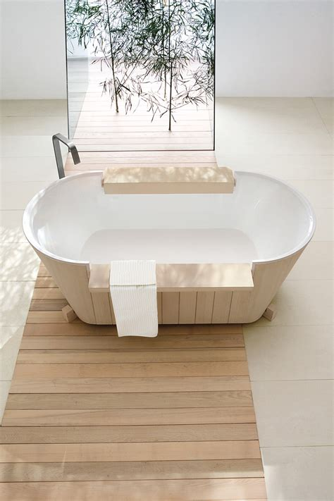 freestanding solid wood bathtub norvegia collection by