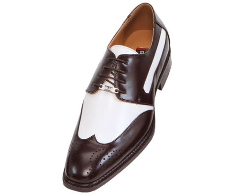 two tone mens shoes bolano mens two tone brown white oxford dress shoe