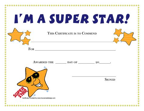 free silly card template certificates for employees templates 7