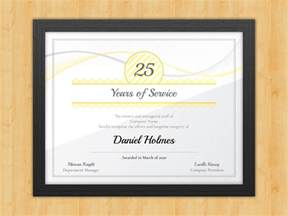 years of service certificate templates longevity years of service certificate award avenue