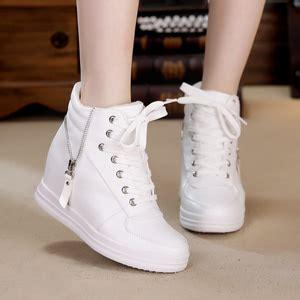 Sepatu Wedges Wanita Warna Putih sepatu kets boots putih wanita model terbaru murah cantik