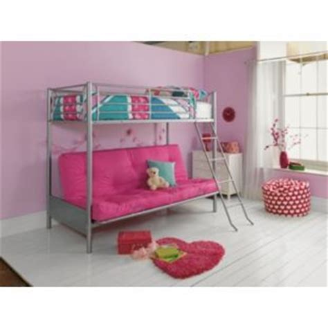 argos pink bedroom furniture 163 352 metal fuchsia futon bunk bed with finley mattress at