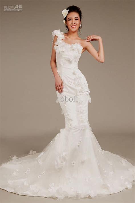 one shoulder wedding dress one shoulder mermaid wedding dresses 2013 naf dresses