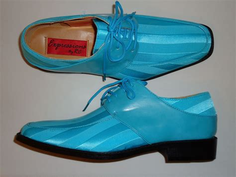 white and turquoise dress shoes
