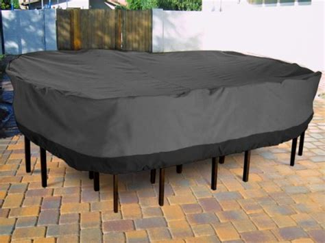 outdoor furniture table covers buy outdoor patio furniture table and chairs cover 108 quot length grey with black hem 100
