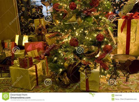 luxury interiors christmas tree royalty free stock images