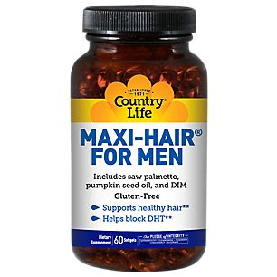 60 men hair products maxi hair for men 60 softgels by country life at the