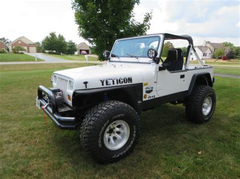 jeep wrangler convertible 1991 jeep wrangler yj convertible chevy 327 v8 th350