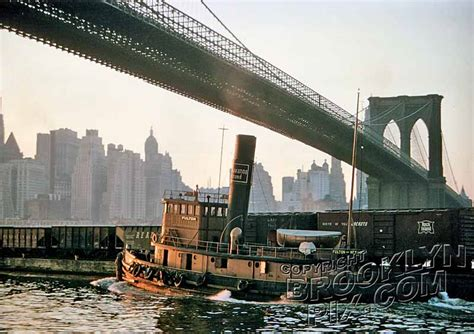 tugboat bridge lackawanna railroad tugboat moving freight cars under