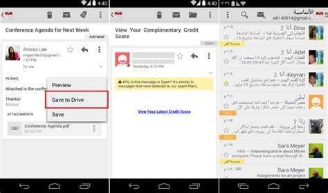 android gmail gmail for android 4 8 brings save to drive improved rtl support more androidos in