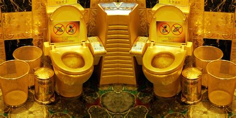 house made of gold photo of the day world most expensive toilet made of