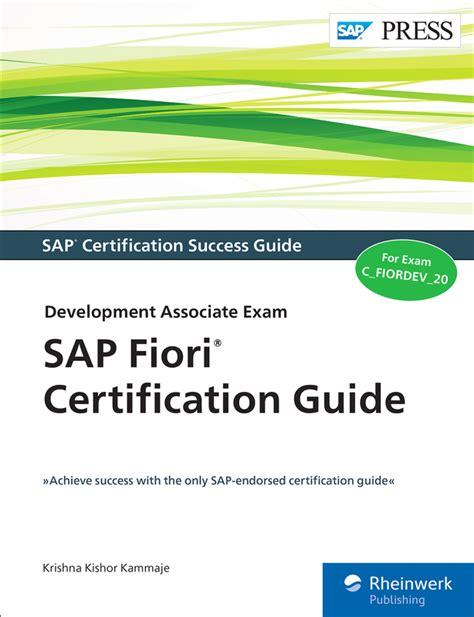 i fiori pdf sap fiori certification guide c fiordev 20 book and e book