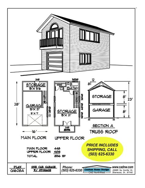 2 story garage plans 2 story single garage plan house pinterest garage