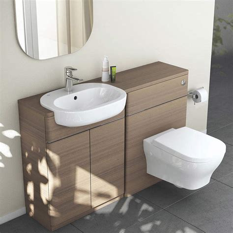 standard bathroom ideal standard softmood semi countertop basin unit white