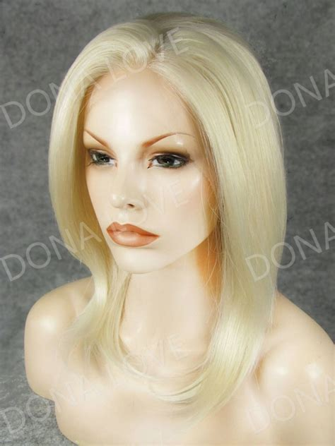 light silky keri hilson straight blonde medium length remy human light blonde shoulder length straight synthetic lace front