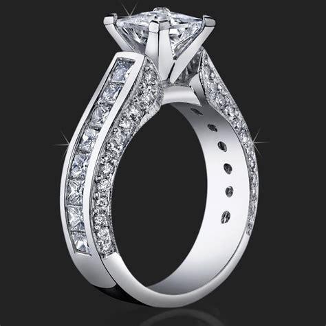 Best Selling Tiffany Style Princess Diamond Engagement