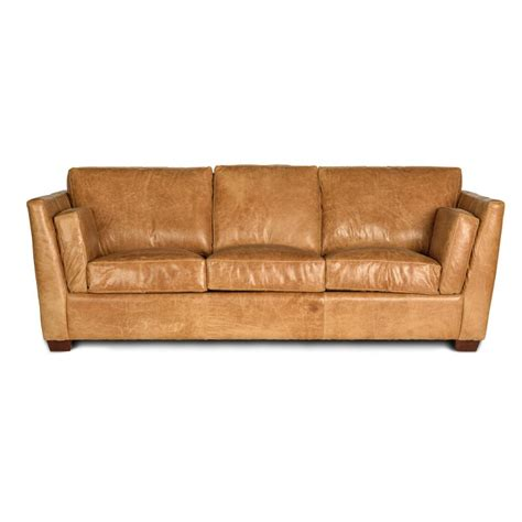 96 quot camel brown modern leather sofa
