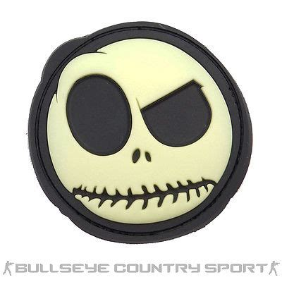 Patch Pacth Rubber Tactical Velcro Airsoft Target glow in the smiley big nightmare rubber patch
