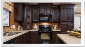 Used Mobile Home Kitchen Cabinets Coffee Cherry Cabinets From Chion Homes Omg Kitchen