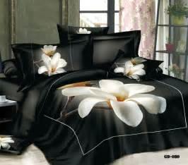 Queen Size Duvet Cover Measurements 3d Magnolia Floral Flower Bedding Set California King
