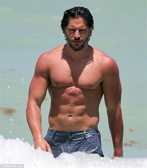 joe manganiello is big dick true blood star joe manganiello shows off his toned torso