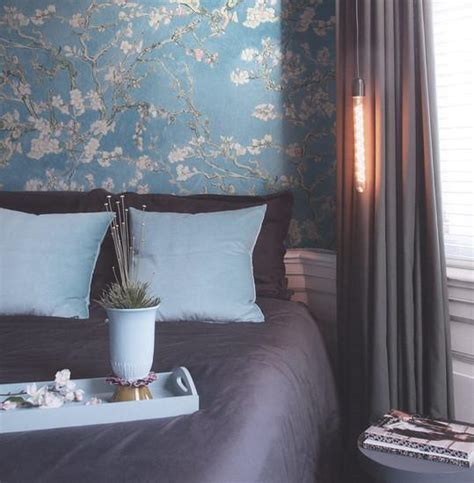 Burke Decor by Almond Blossom Wallpaper In Turquoise From The Gogh