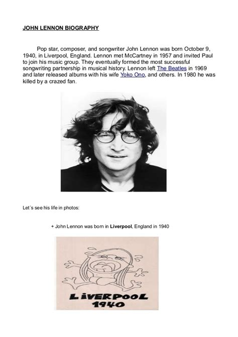 john lennon biography wiki john lennon biography with images