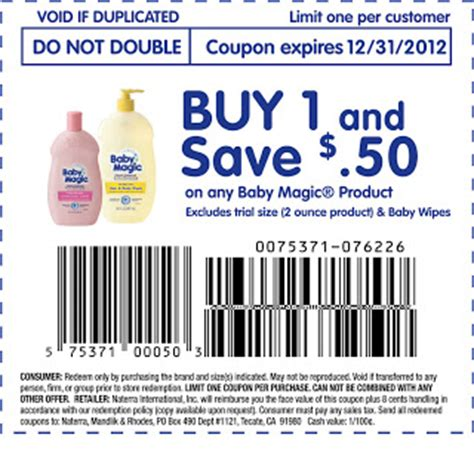 printable grocery coupons uk 2012 baby magic 50 coupon printable grocery coupons
