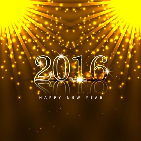 new year 2016 vector free glowing new year 2016 card vector free