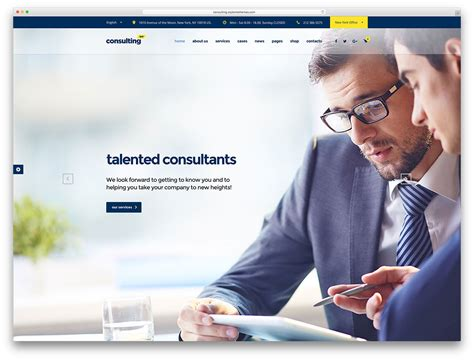 Net Consultant by 20 Best Financial Company Themes 2018 Colorlib