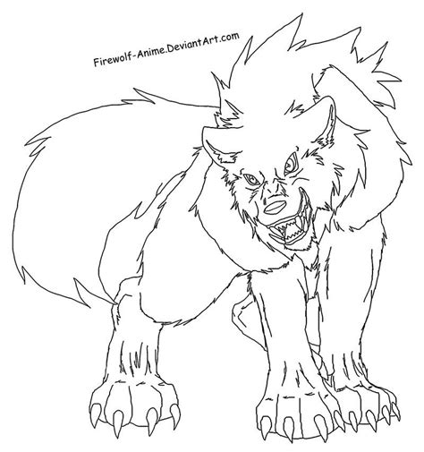 anime wolf coloring page wolf printable coloring home