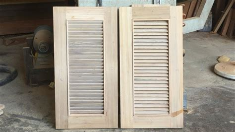 shutter doors for cabinets amazing woodworking shutter doors how to build shutter