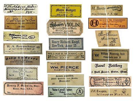 vintage antique violin fiddle maker set   labels nice ebay