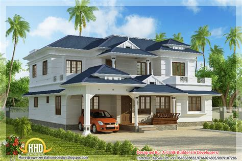 house style 4 bhk kerala style house elevation 3074 sq ft indian