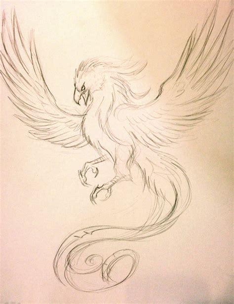 Tattoo Phoenix Sketch | phoenix tattoo sketch by lucky978 on deviantart