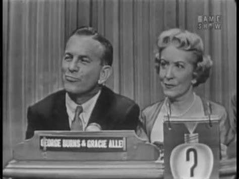 Tas L Mansur Gracie Classic george gracie on quot what s my line quot 1954 sitcoms photo galleries