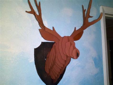free cardboard taxidermy templates 1000 ideas about cardboard deer heads on