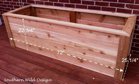 Building Planter Boxes by How To Build A Planter Box Economically Southern